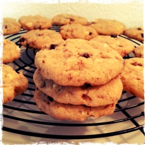 Black & White Chocolate Almond & Walnut Cookies