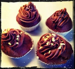 Glutenfreie Schoko Cupcakes