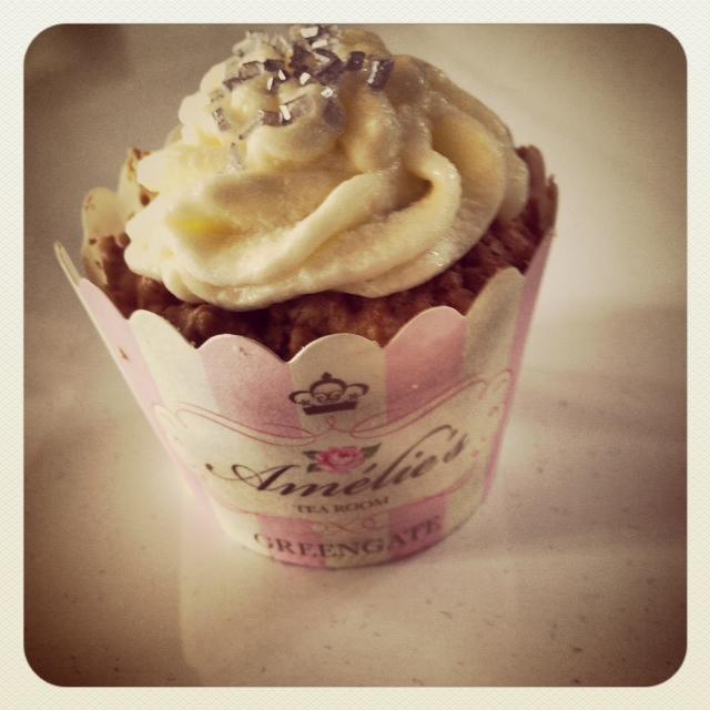 Karamell Cupcake mit Caramel Füllung